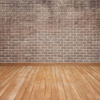 Wooden floor with brick wall Photo | Free Download