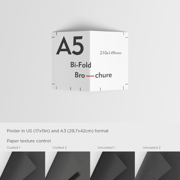 A5 flyer template PSD file Free Download