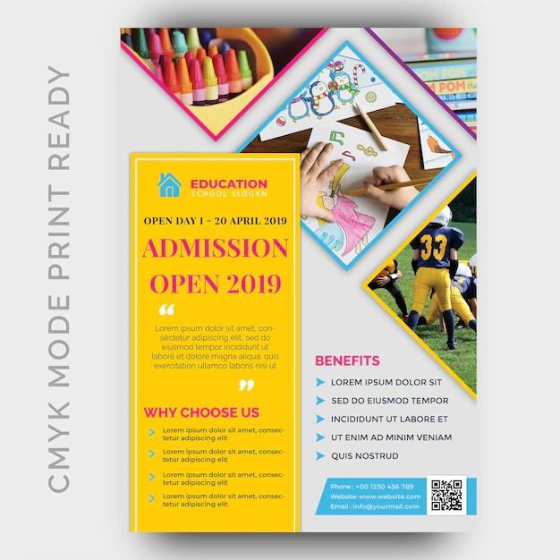Back to school flyer design template PSD file Premium Download