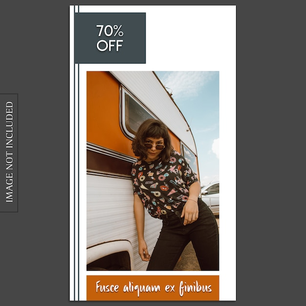 Basic, creative, modern photo mockup and instagram story template