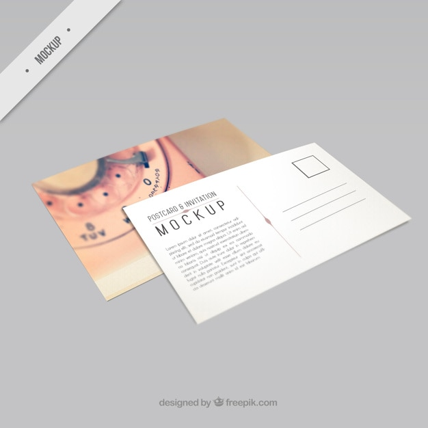 Beautiful phone postcard mockup PSD file Free Download - postcard wedding invitations template free