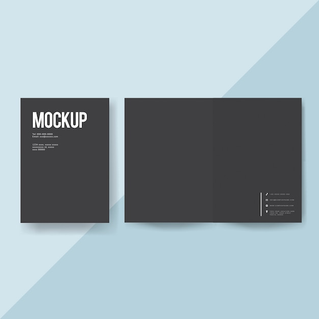 Blank paper brochure template mockup PSD file Free Download