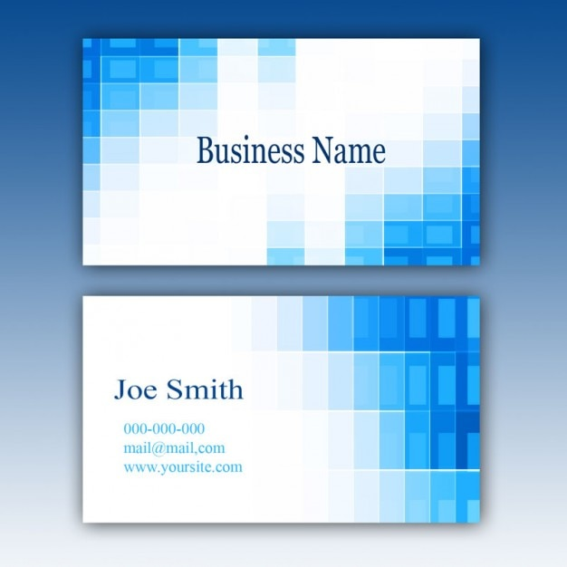 Blue business card template PSD file Free Download - name card format