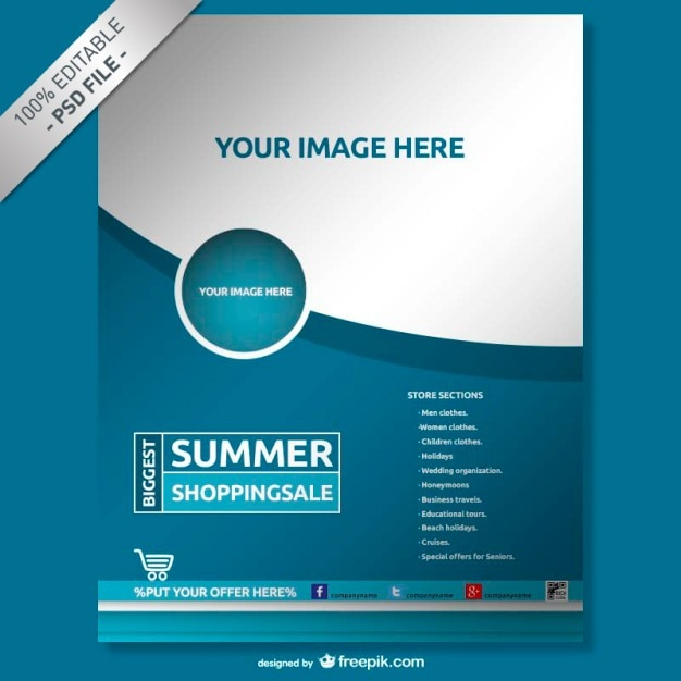 Free Company Profile Template Blugraphic Blue Company Poster Psd File Free Download