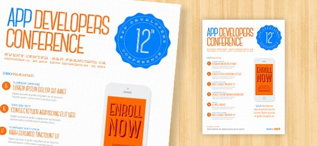 Clean flyers PSD template PSD file Free Download - conference flyers templates free