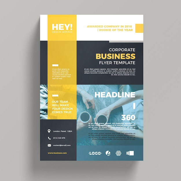Creative corporate business flyer template PSD file Free Download - free product flyer templates