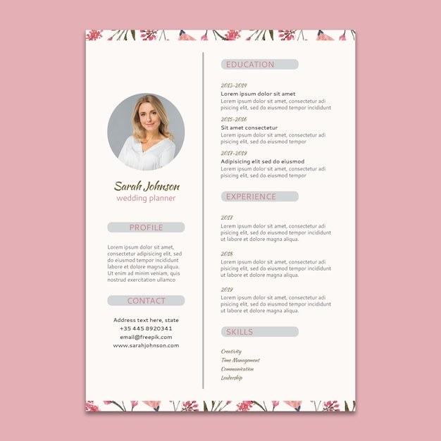 creative cv template download