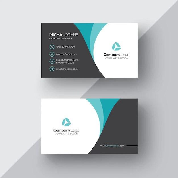 Elegant business card PSD file Free Download - card
