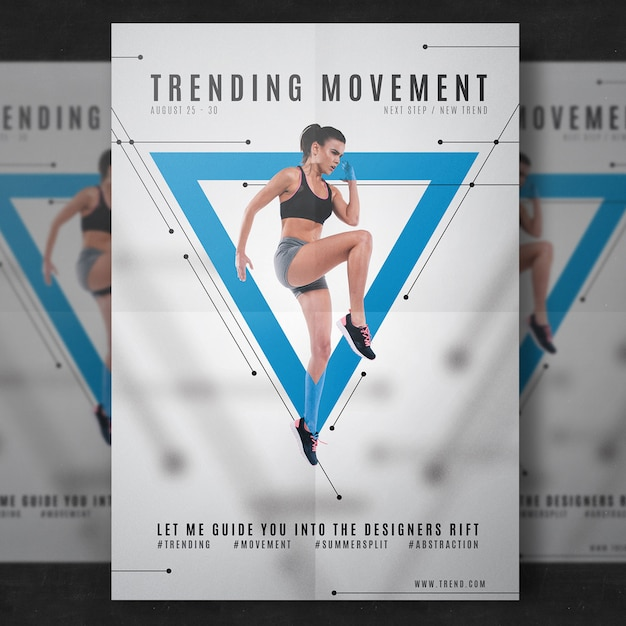 Fitness flyer template PSD file Free Download