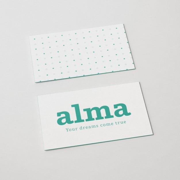 Front and back view business card mock up PSD file Free Download
