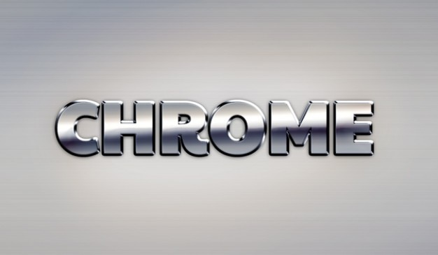 Google Chrome metal text effect PSD file Free Download