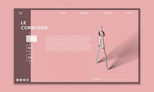 Modern website mockup PSD file Free Download