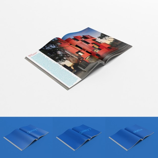 Open magazine template PSD file Free Download