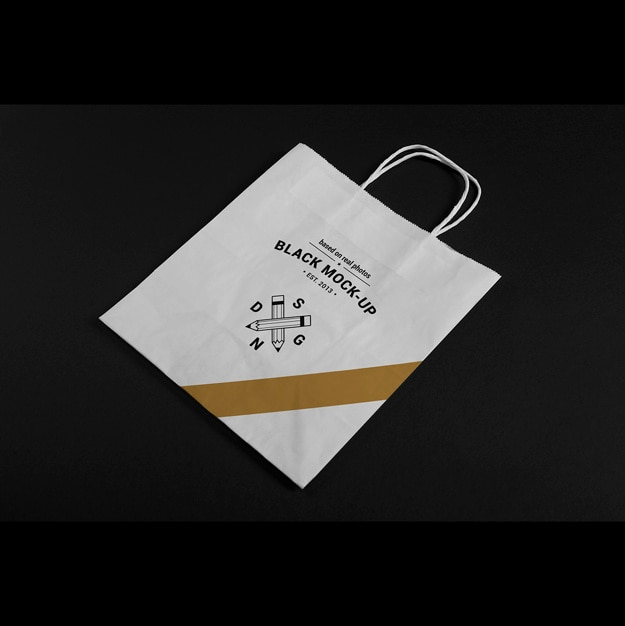 Paper bag mock up design PSD file