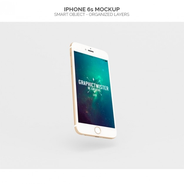 Realistic iphone 6s mock up PSD file Free Download