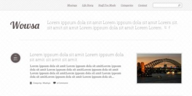 Simple Blog Layout PSD PSD file Free Download