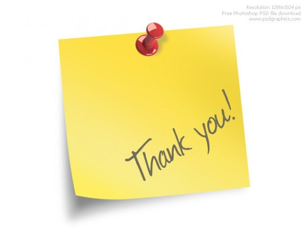Thank you note PSD file Free Download - Thank You Note