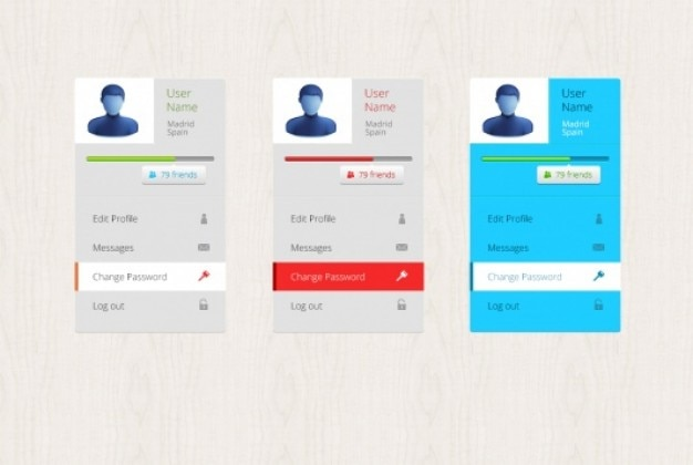 Three profile box psd templates PSD file Free Download - free profile templates