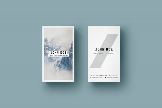 Vertical business card mock up PSD file Free Download - vertical business card