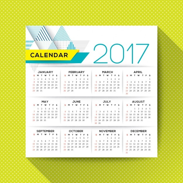 Week Year Calendar Download  2017 Annual Calendar Vector Free Download
