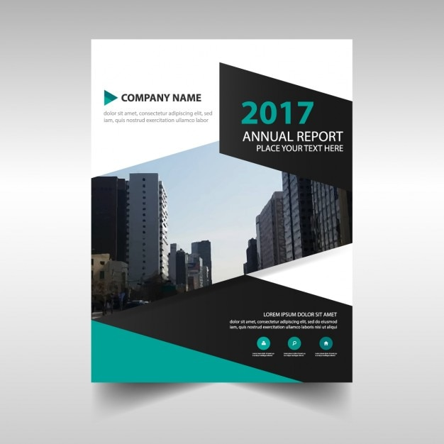 2017 annual report abstract brochure template Vector Free Download - free report templates