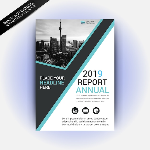 2019 Business Annual Report Template Vector Premium Download