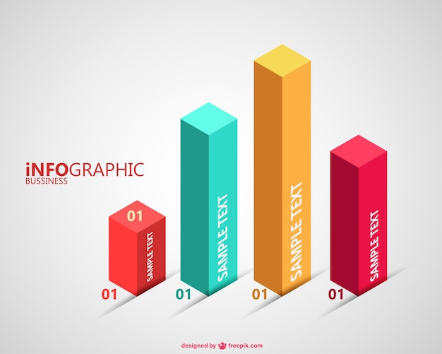 3d charts Vector Free Download - Free Chart