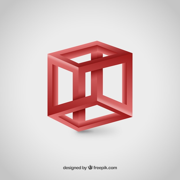 3D Cube logo Vector Free Download