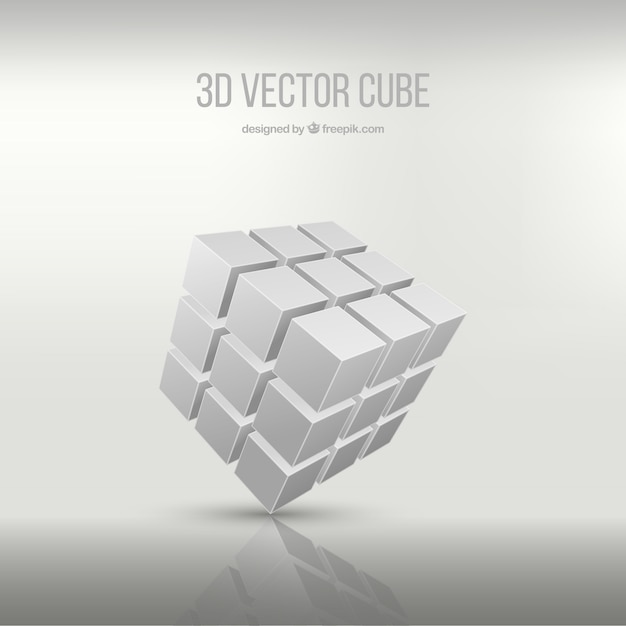 3d cube Vector Free Download