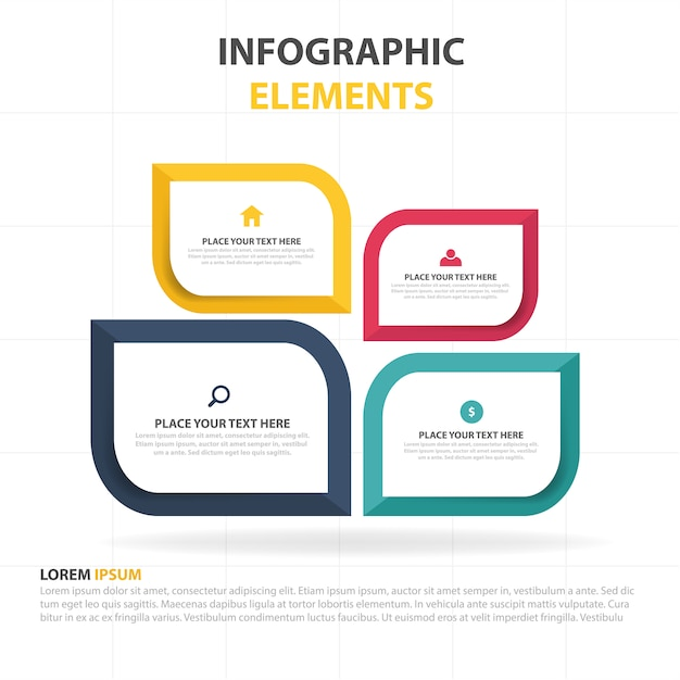 4 infographic templates Vector Free Download