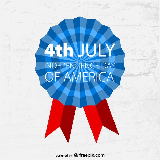 4th of july badge grunge template Vector Free Download - 4th of july template