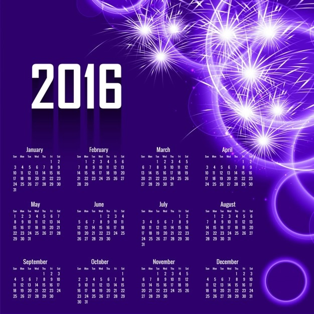 Calendar Year With Week Number Week Number Calculator Time And Date Abstract 2016 Calendar Design In Purple Color Vector