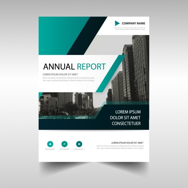 Abstract annual report template Vector Free Download - free annual report templates