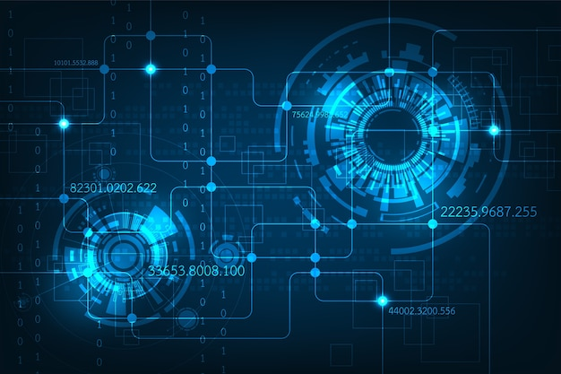 Abstract background electronic circuit design Vector Premium Download
