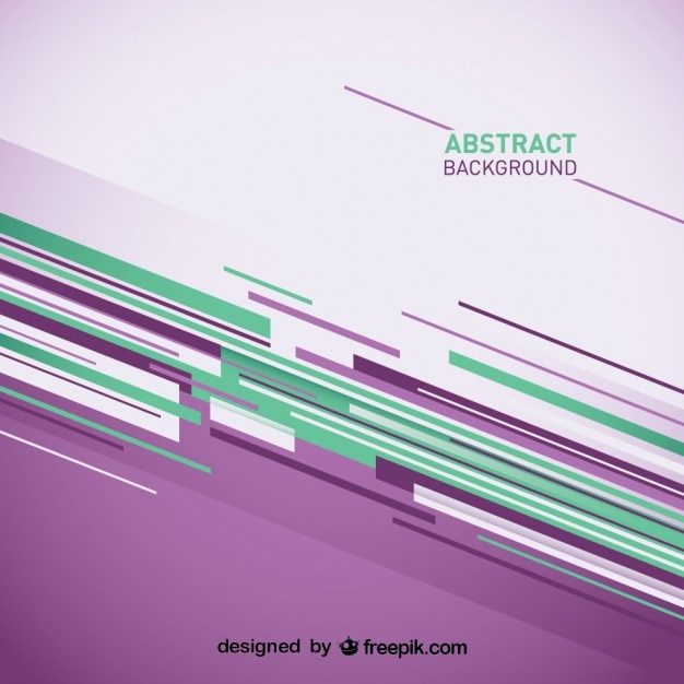 Abstract background with purple and green stripes Vector Free Download