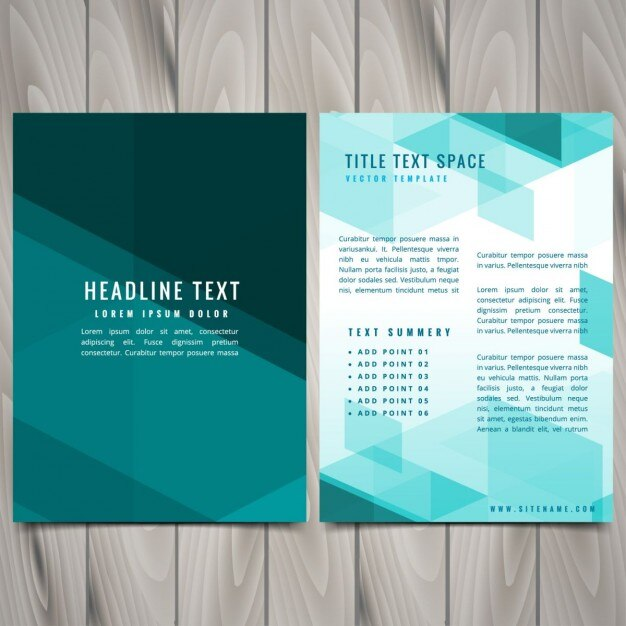 Abstract blue shapes brochure flyer design Vector Free Download - free flayer design