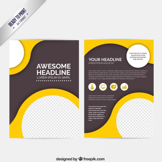 Abstract brochure with circles Vector Free Download - free design flyer templates