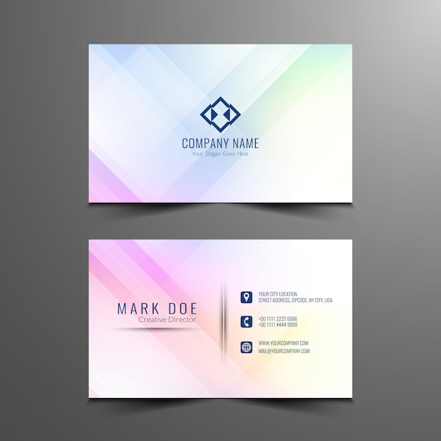 Abstract business card design template Vector Free Download - card design template