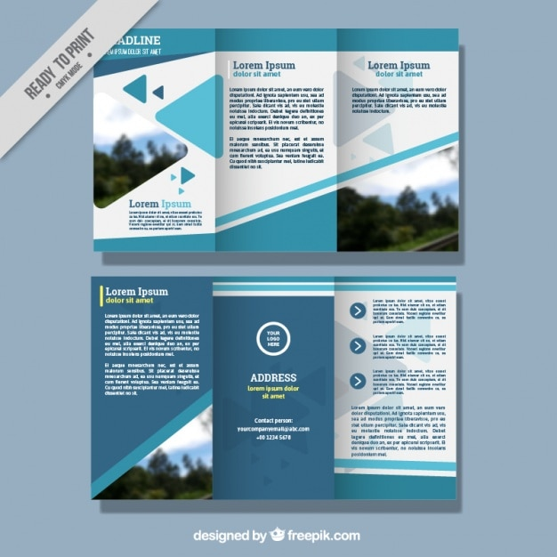 Abstract business leaflet template Vector Free Download - leaflet template