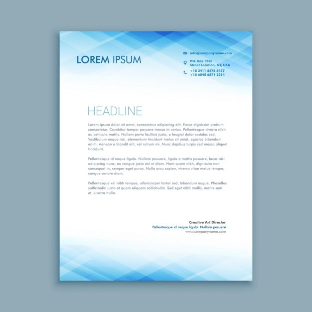 Abstract business letterhead template Vector Free Download - Free Business Letterhead Template