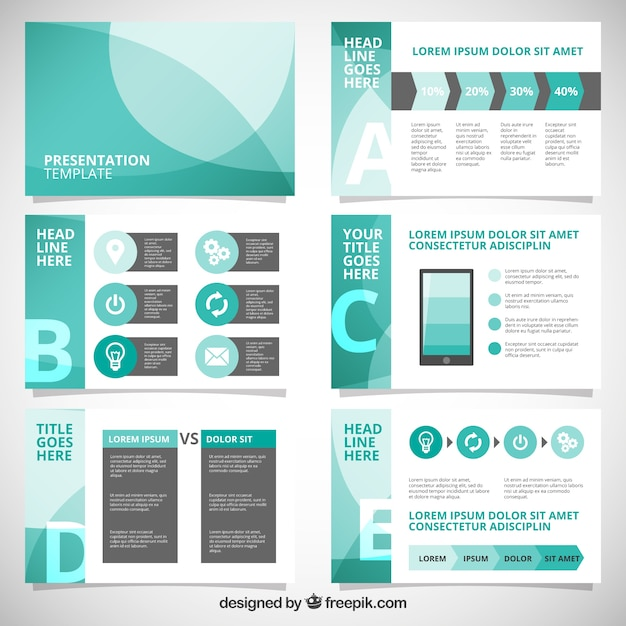 Abstract business presentation with infographic Vector Free Download