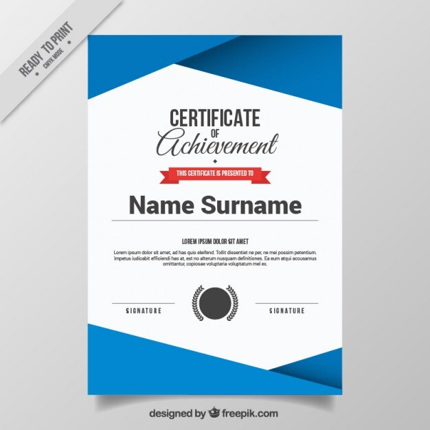 Abstract certificate template Vector Free Download - free appreciation certificate templates