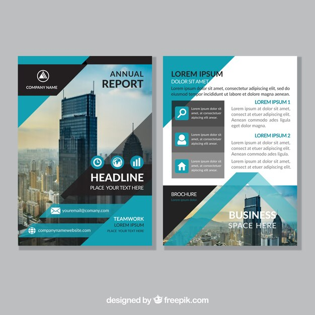 Abstract corporate brochure template Vector Free Download - architecture brochure template