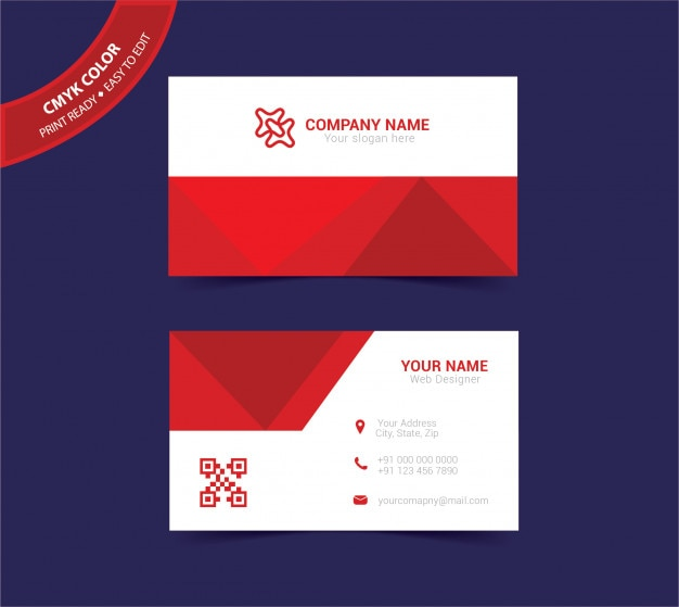 Abstract doublesided business card template Vector Premium Download