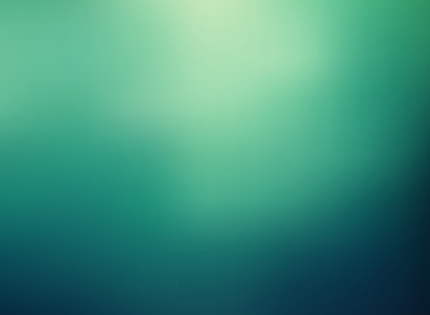 Abstract green color gradient blurred background Vector Premium