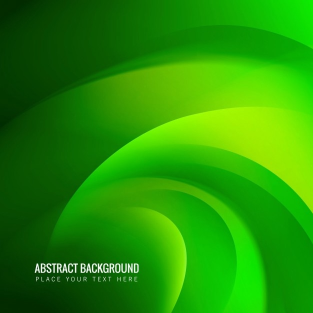 Abstract Green Wave Background Vector Free Download