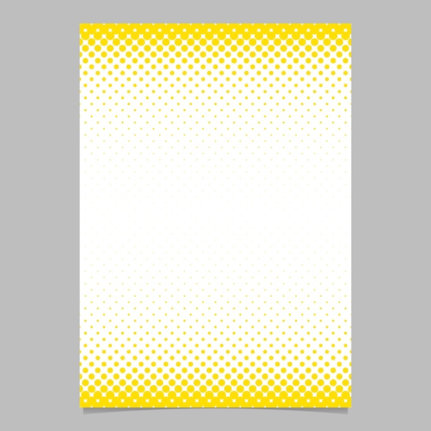 Abstract halftone circle pattern page, brochure template - vector