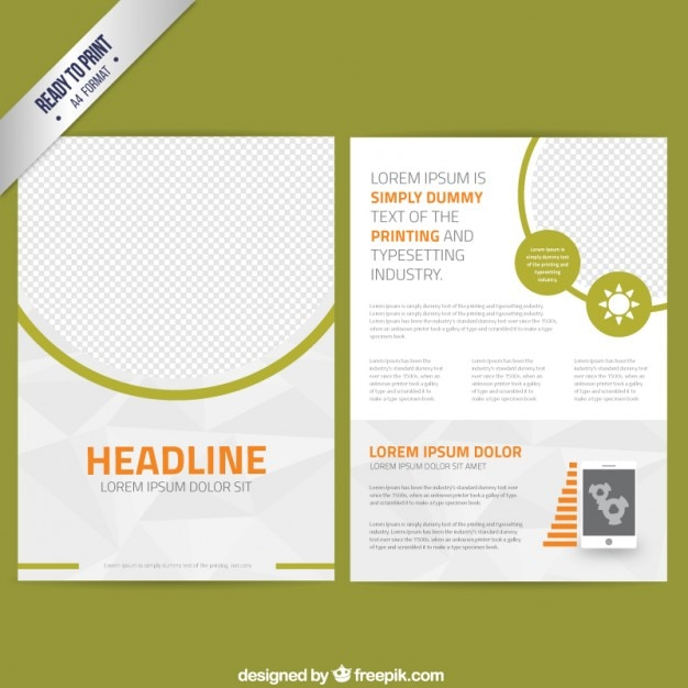 Abstract leaflet template Vector Free Download - leaflet template