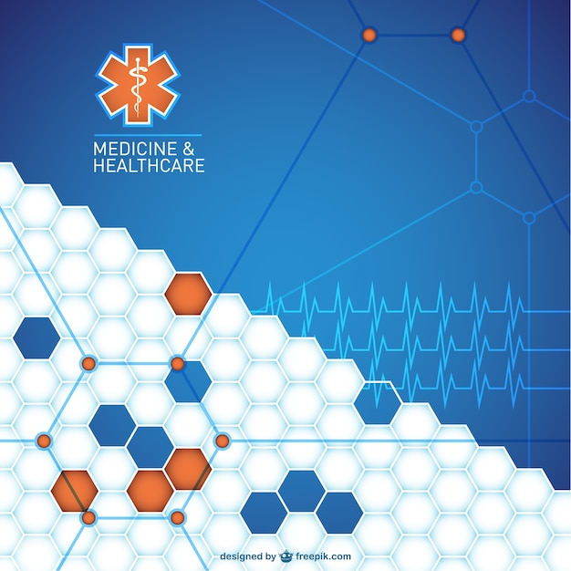 Abstract medical background design Vector Free Download