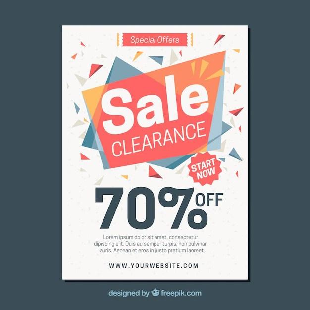 Abstract sales brochure Vector Free Download